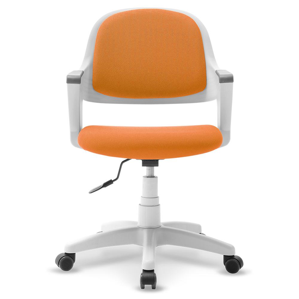 체어클럽 터치백 고급패브릭 화이트바디 의자, 오렌지
