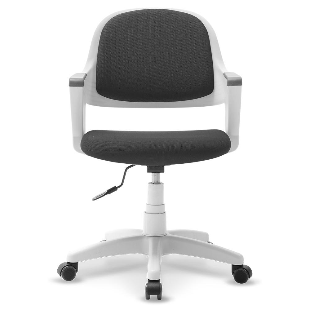 체어클럽 터치백 고급패브릭 화이트바디 의자, 블랙