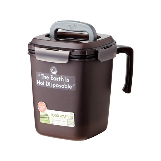 락앤락 음식물 쓰레기통 3L, 브라운