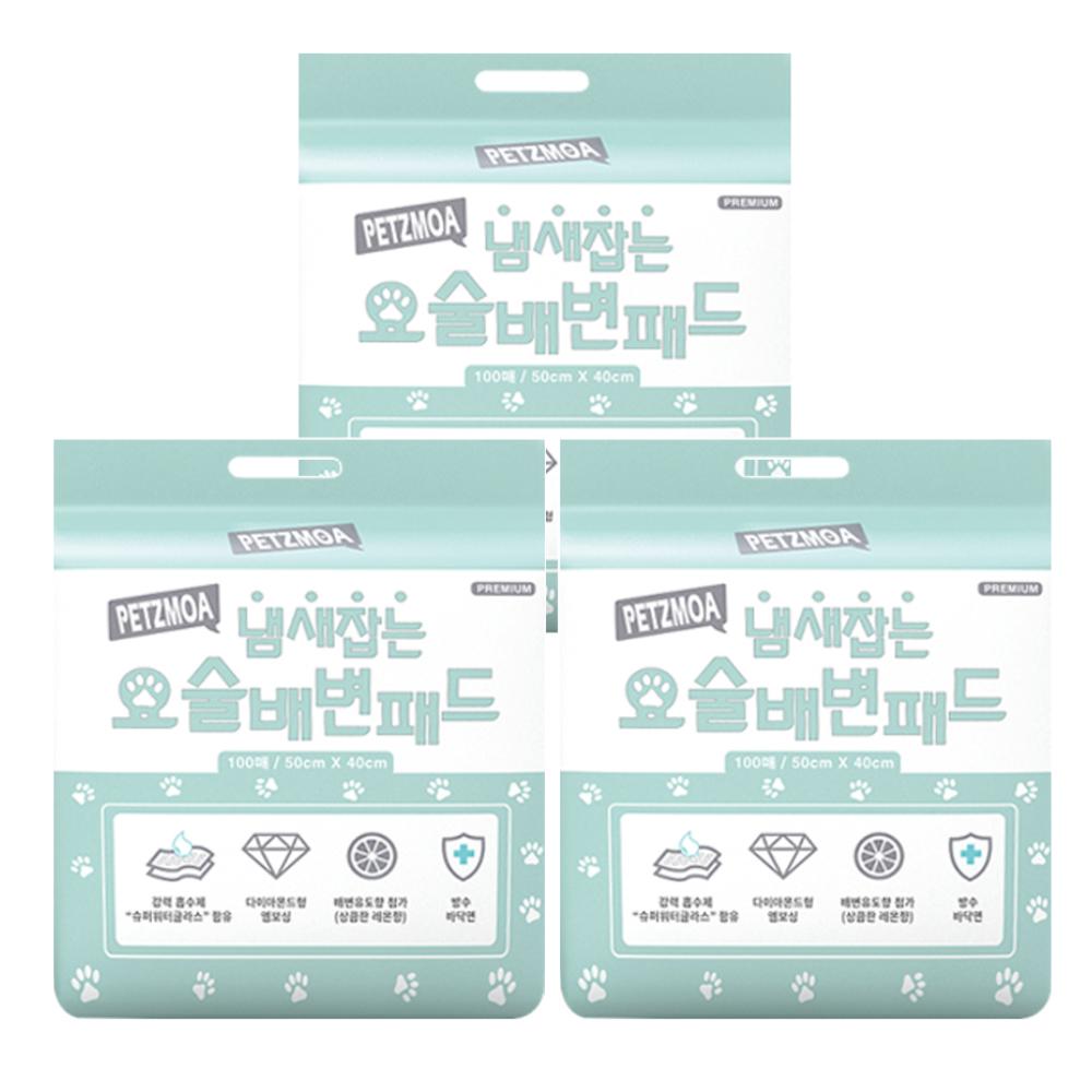 페츠모아 냄새잡는 요술 배변패드 100매, 3팩