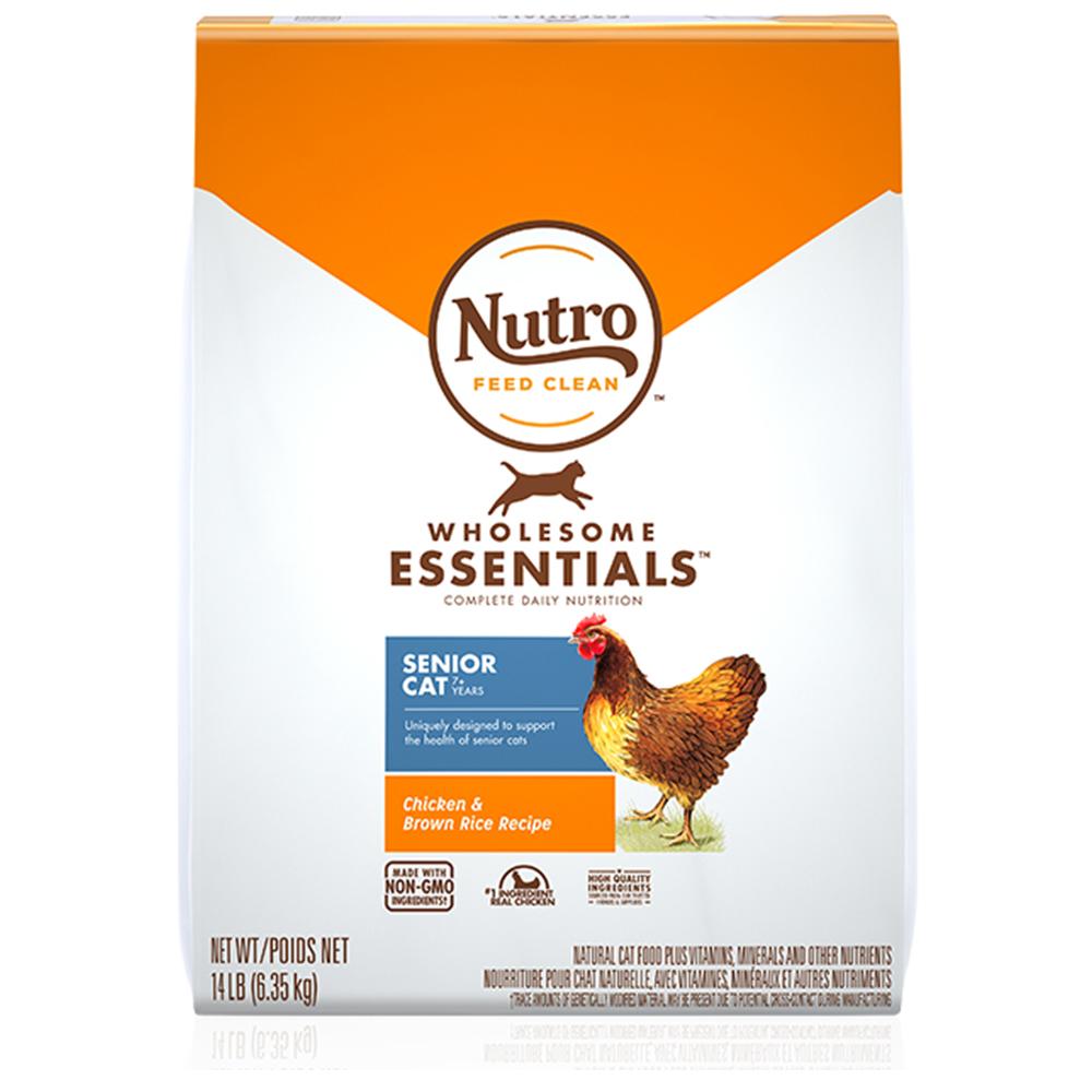 뉴트로 인도어 시니어 닭고기와 현미 고양이 건식사료, 6.35kg, 1개
