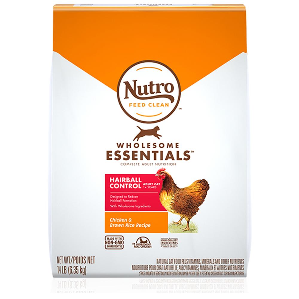 뉴트로 내추럴 초이스 고양이 사료 헤어볼 어덜트 닭고기와 현미, 6.35kg, 1개