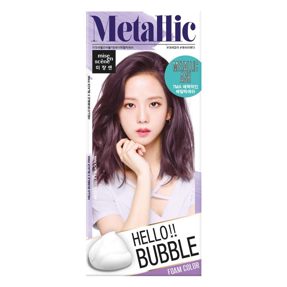 미쟝센 헬로 버블 염색제, 7MA 메탈릭 애쉬, 1개