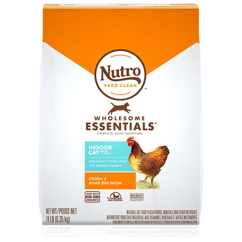 뉴트로 1세이상 인도어 닭고기와 현미 건식사료, 6.35kg, 1개