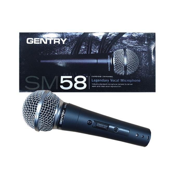GENTRY SM58 고급형 보컬용 다이나믹 마이크