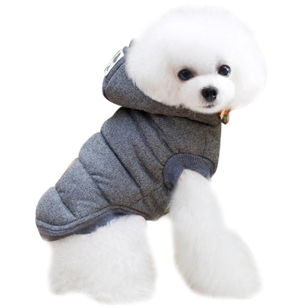 블럭마트 강아지 고양이옷 기모패딩, 그레이