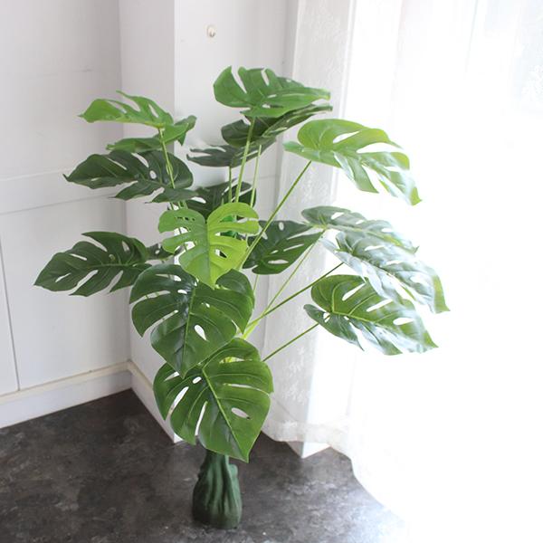 모리앤 몬스테라 조화나무 100cm, 혼합 색상, 1세트