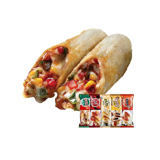 구워나온마리시리즈 10+1set [MA001]_(피자3+불닭2+콘치즈2+꿀호떡2+떡볶이2), 1세트