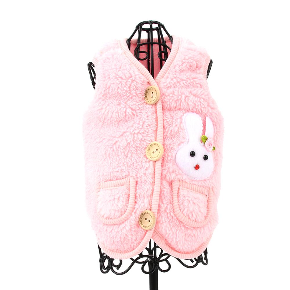 도그아이 애견용 토순이조끼, 핑크