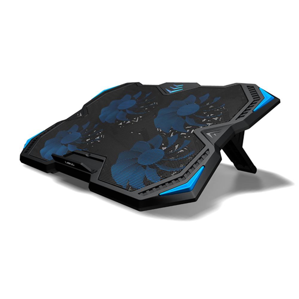 레토 노트북거치대 쿼드쿨러 17인치 LCS-C4, 블랙