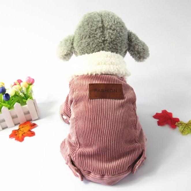 하라시코쿠키 겨울은 물러나거라 골덴스타일 강아지 아우터, 핑크