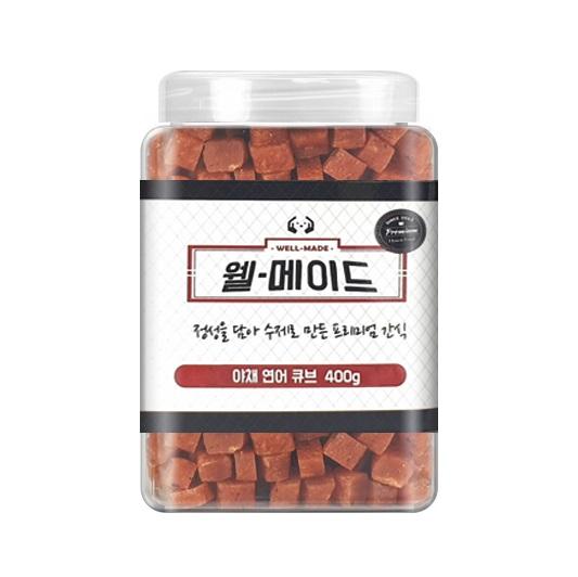 웰메이드 강아지 수제간식 400g, 야채연어큐브맛, 1개