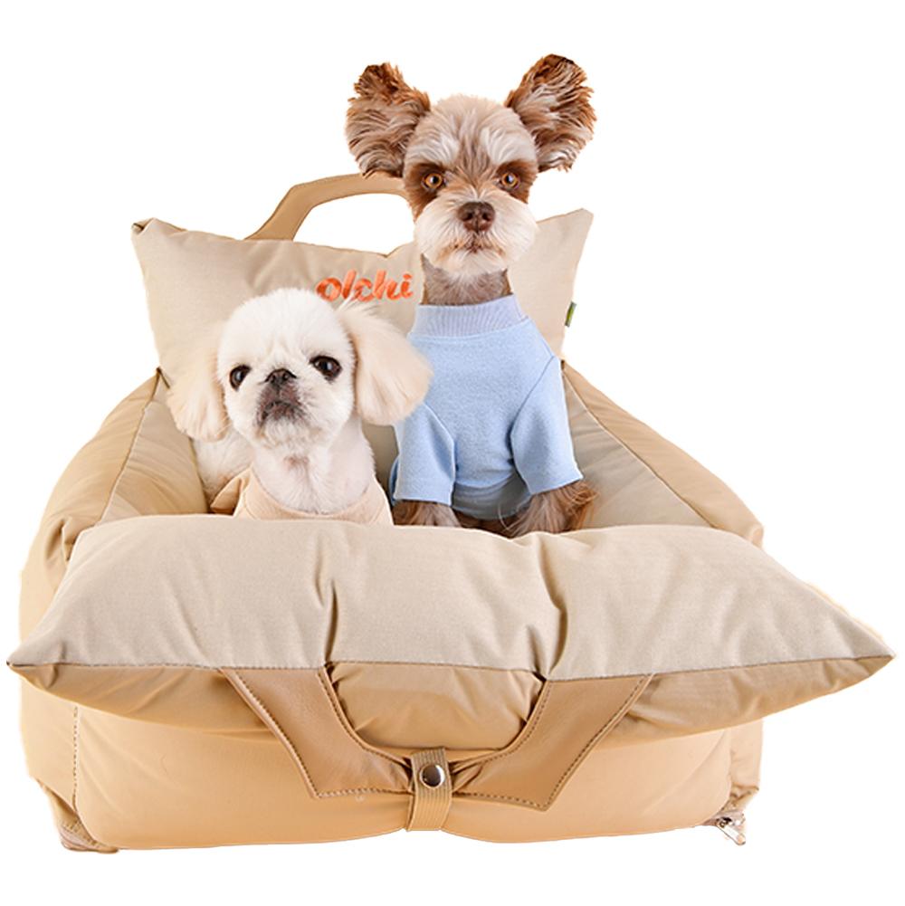 올치 방수 강아지 캐리어 카시트 커버분리형, 베이지, 1개