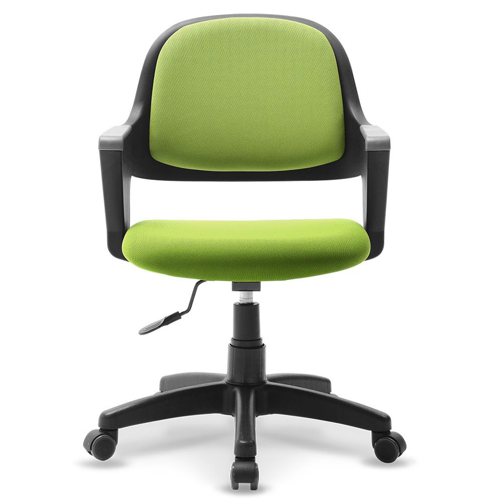 체어클럽 터치백 고급패브릭 블랙바디 의자, 그린