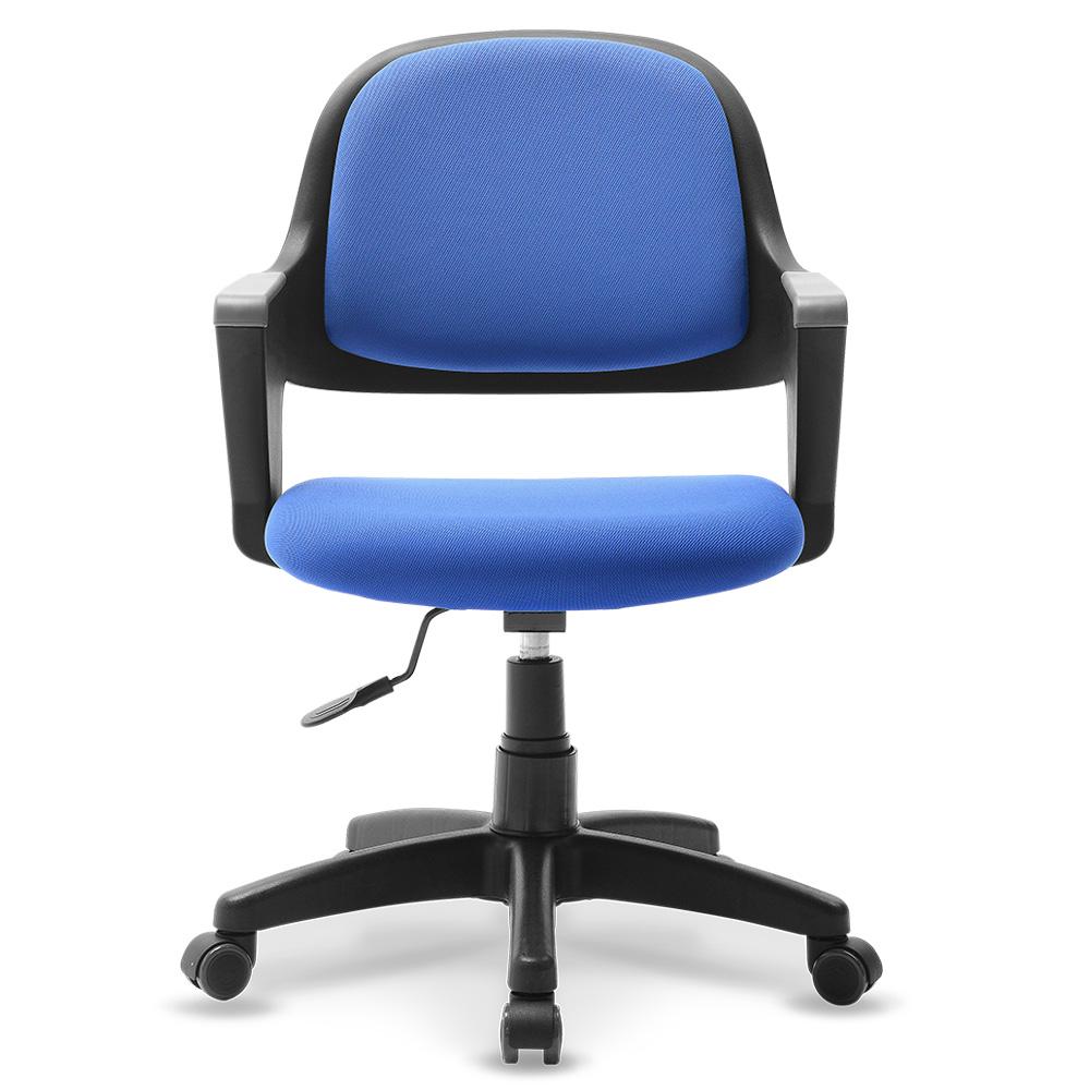 체어클럽 터치백 고급패브릭 블랙바디 의자, 블루