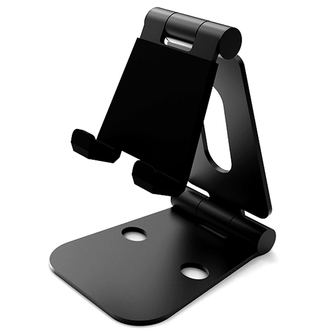위시비 bstand M 스마트폰 태블릿 2중 접이식 스탠드, 블랙, 1개