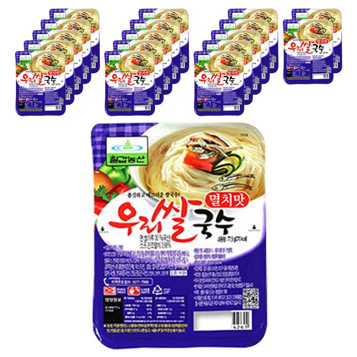 칠갑농산 우리쌀국수 멸치맛, 77.5g, 18개입