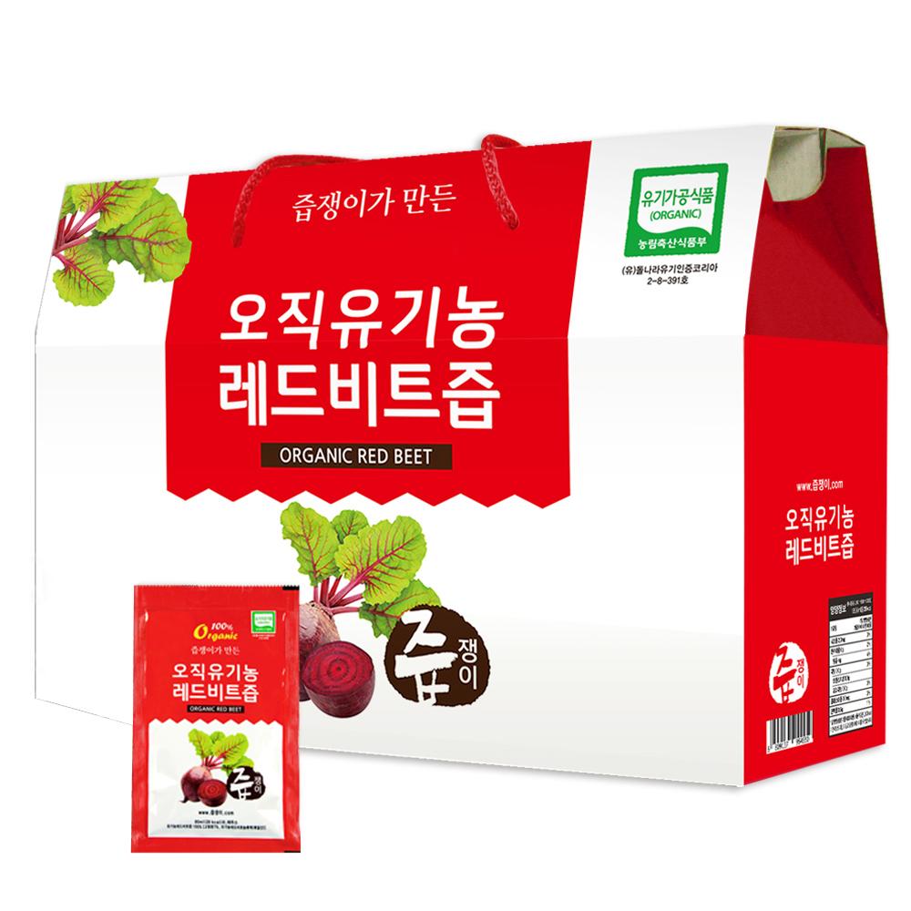 [유기농 즙] 즙쟁이 오직유기농 레드 비트즙, 80ml, 30개입 - 랭킹58위 (13960원)