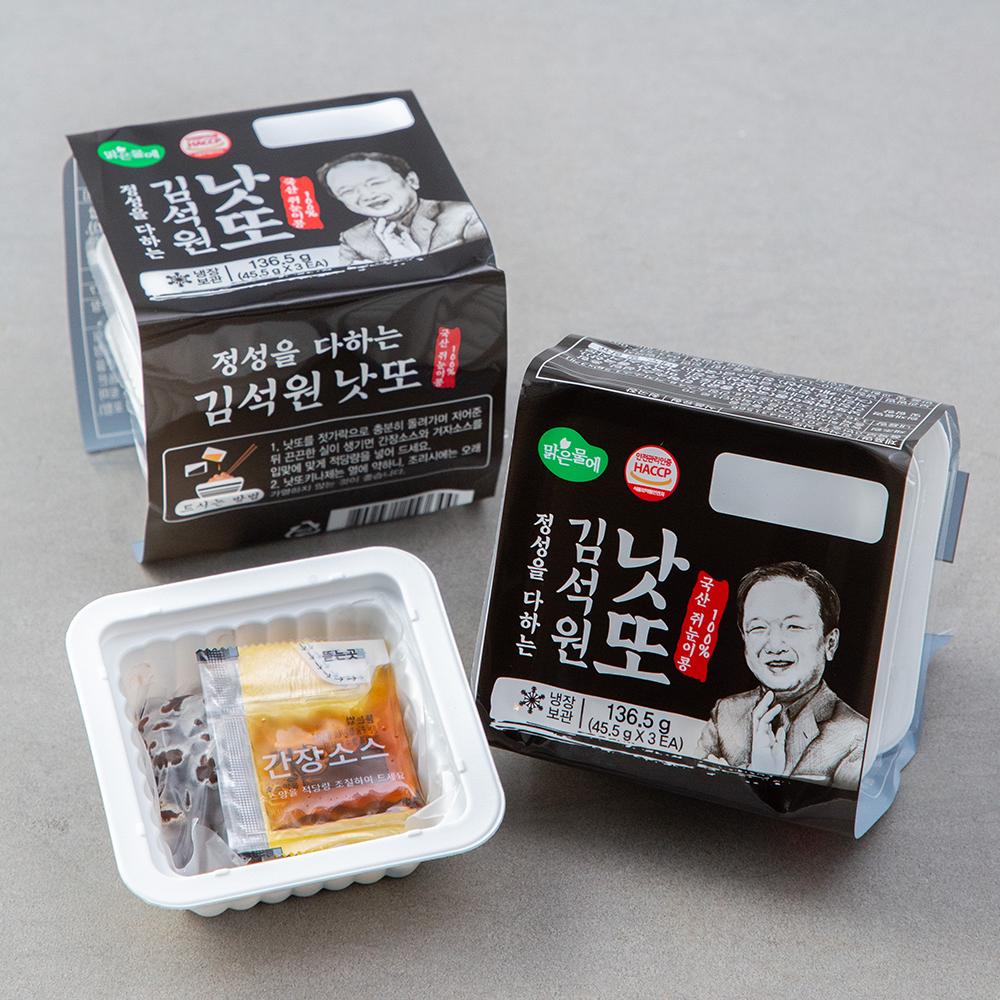 맑은물에 김석원 쥐눈이콩 낫또 6개입, 45.5g, 6개