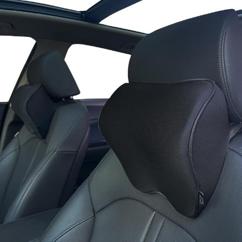 지토스 차량용 목쿠션 2p, 블랙 테두리