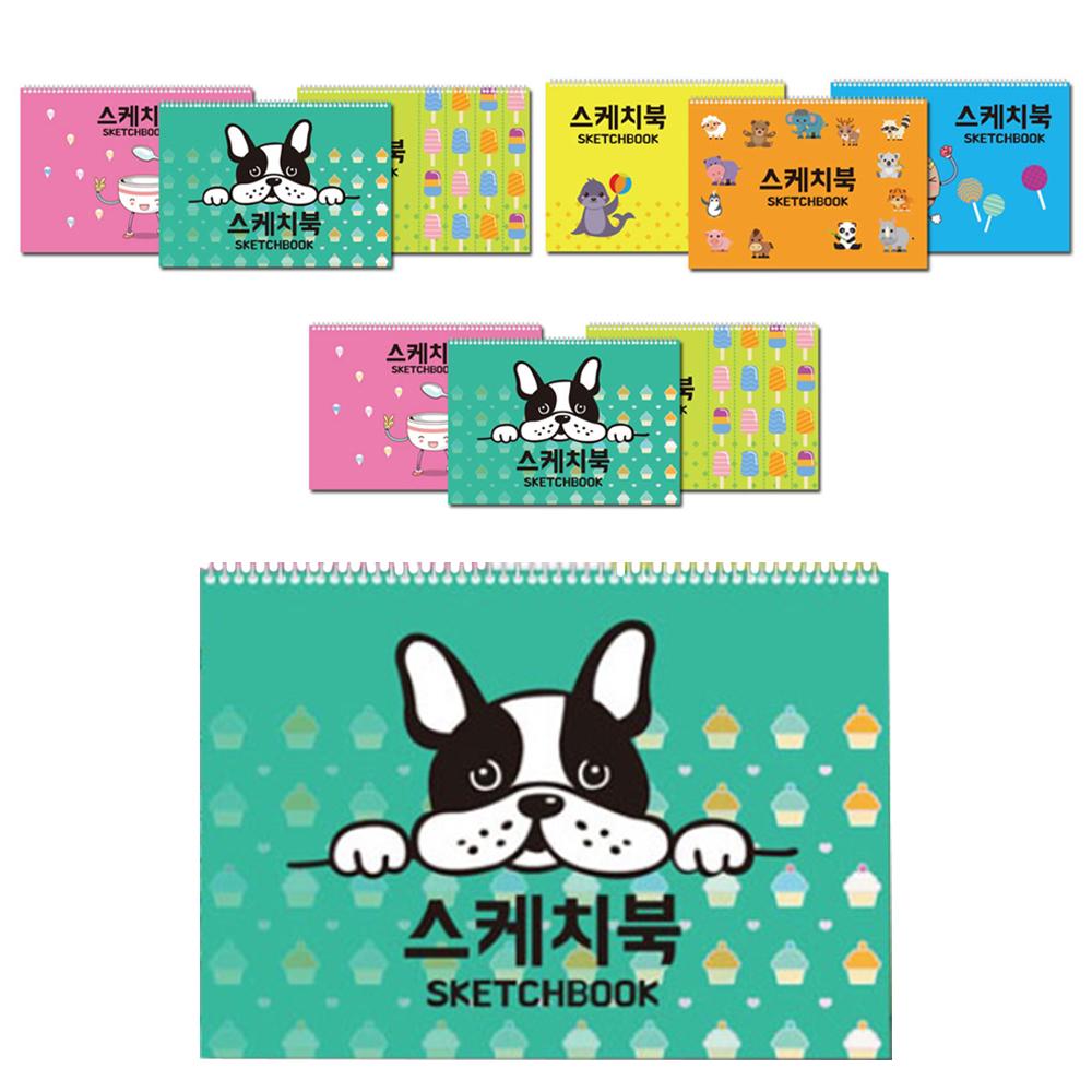 팬시토피아 캐릭터 스케치북 10권 랜덤발송, 20매