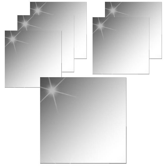 온주홈데코 아크릴 안전거울 스티커 직각형 6개, 단일색상