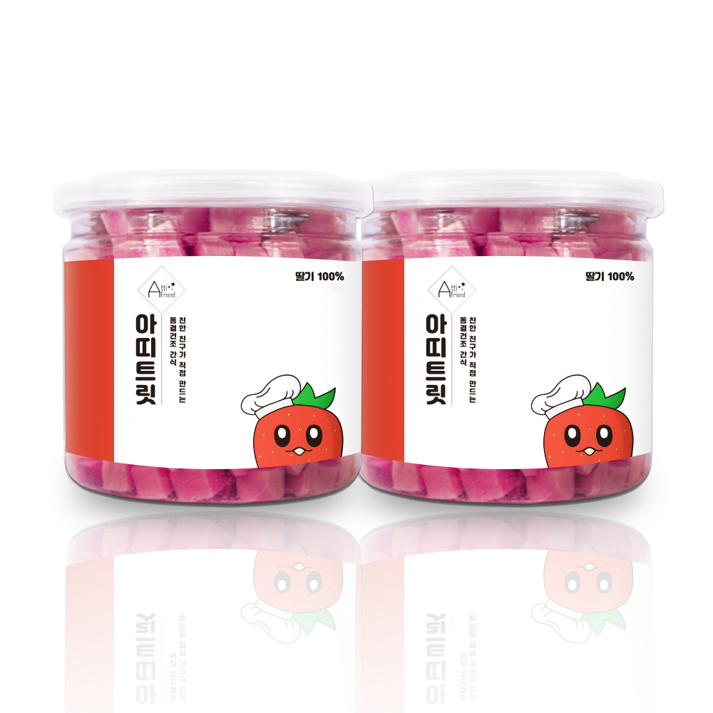 아띠지기 강아지 동결건조 과일 트릿 35g, 딸기, 2개
