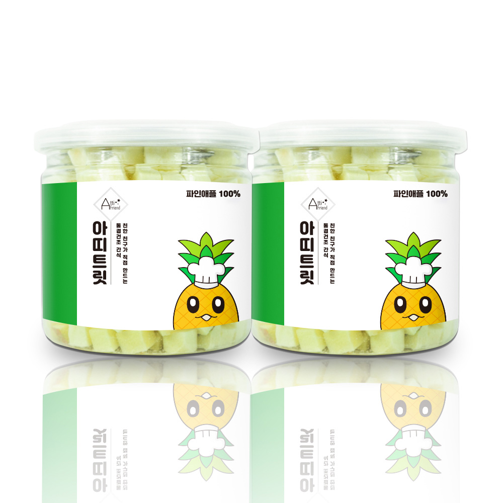 아띠지기 강아지 동결건조 과일 트릿 35g, 파인애플, 2개