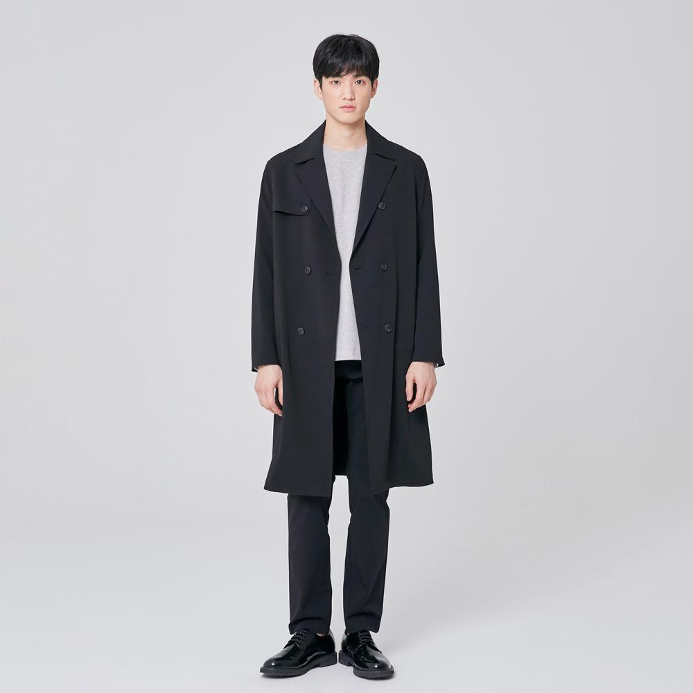 마인드브릿지 남성 세미 오버 더블 트렌치 코트 MUCA2102