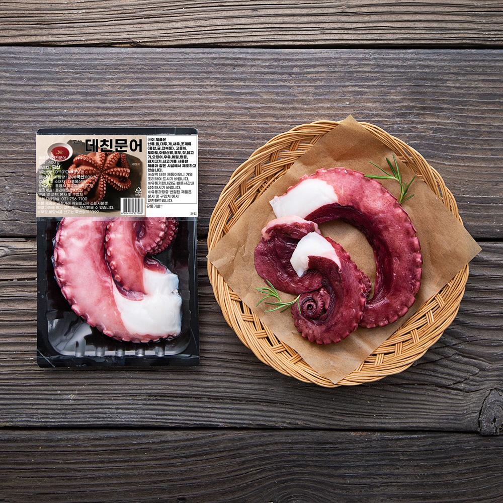 국산 데친 문어 (냉장), 400g, 1팩