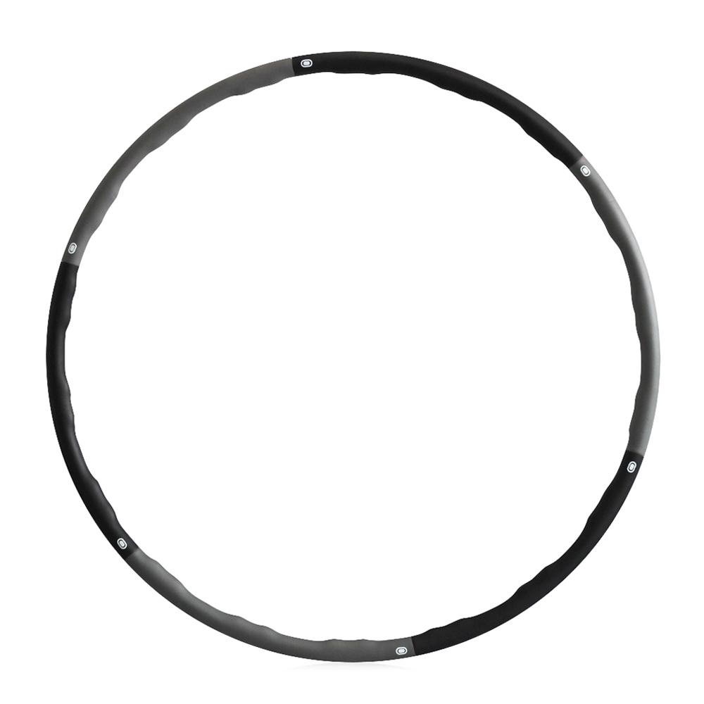 쿠팡 브랜드 - 코멧 소프트 훌라후프 중급용 1.5kg, 블랙 + 그레이