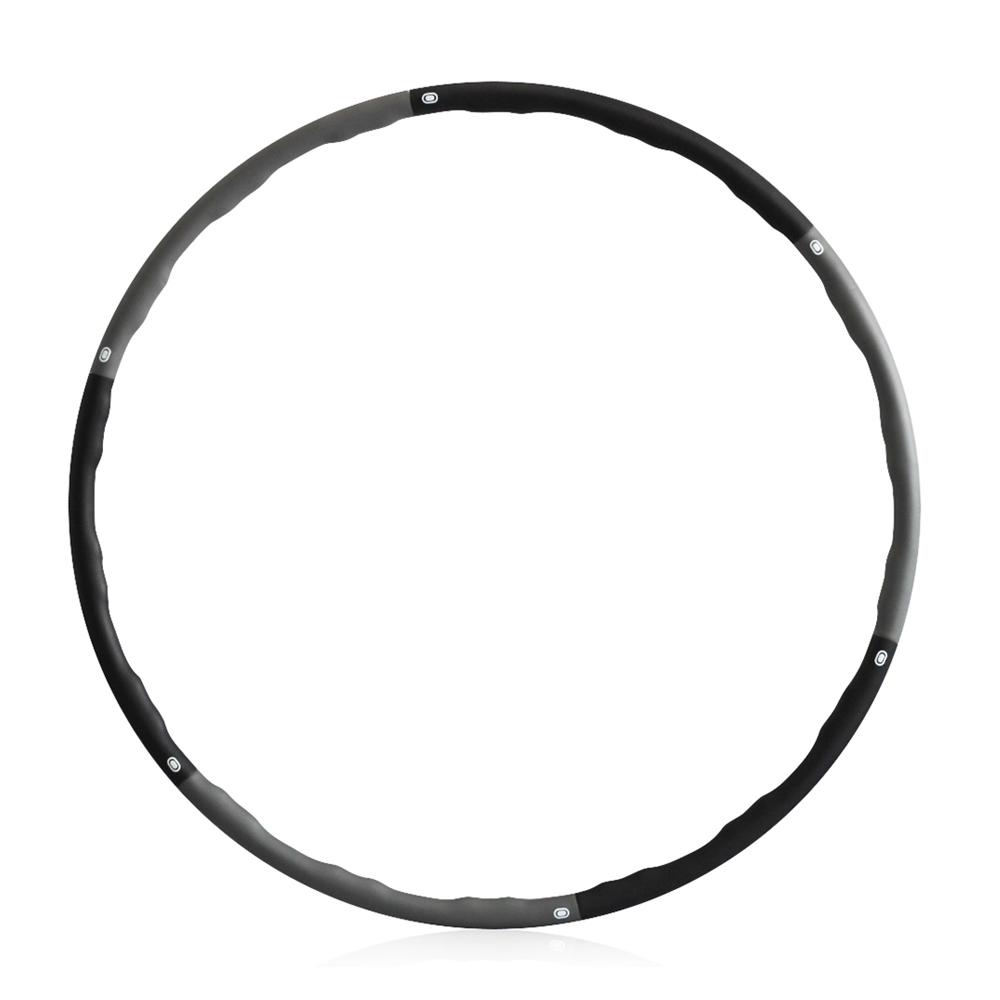쿠팡 브랜드 - 코멧 소프트 훌라후프 초급용 1.2kg, 블랙 + 그레이