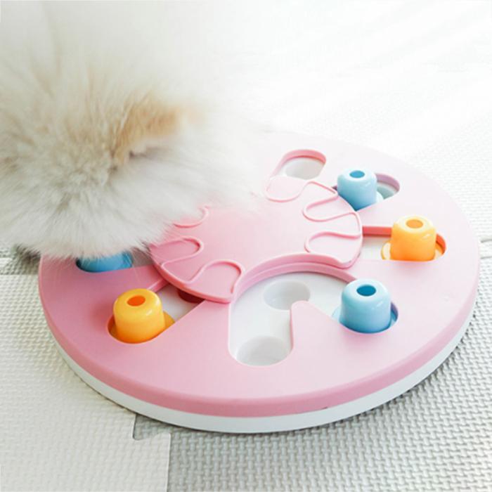 딩동펫 반려동물 스마트 노즈워크 간식장난감 28cm, 핑크, 1개