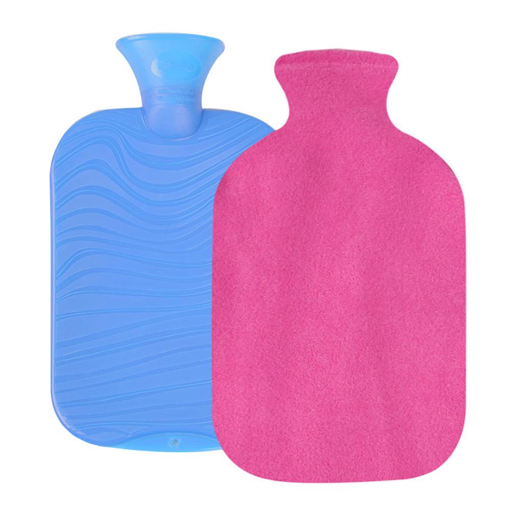 파쉬 양면물결 핫팩 물주머니 2L 랜덤 발송 + 도톰폴리커버 핑크, 1세트