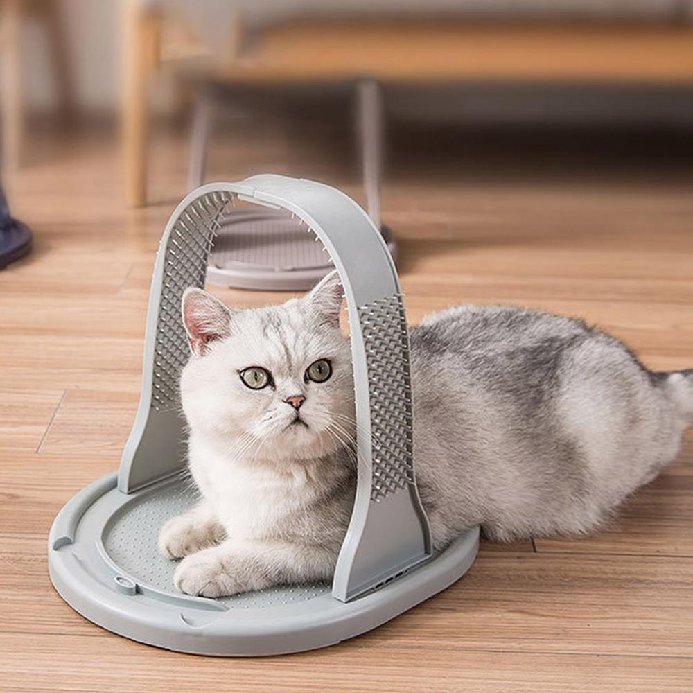 딩동펫 고양이 조립형 셀프 그루밍 브러쉬, 그레이, 1개