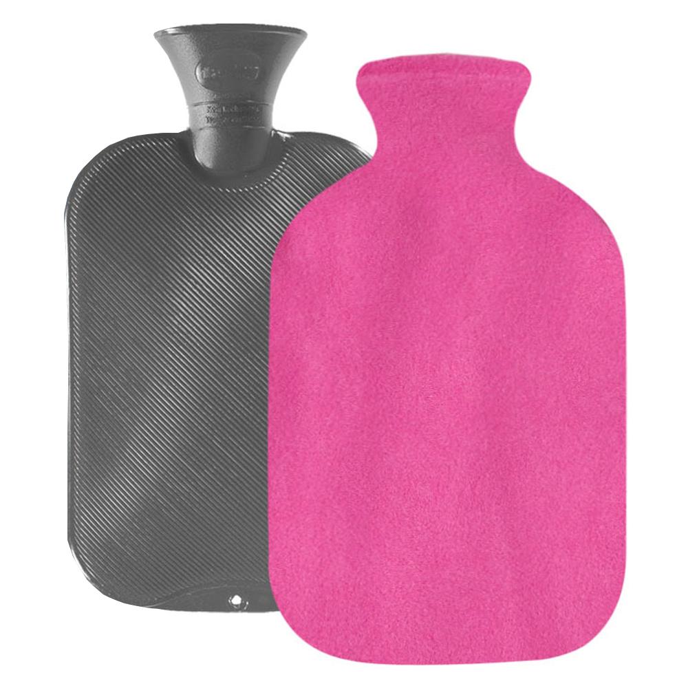 파쉬 양면빗살 핫팩 물주머니 2L 랜덤 발송 + 도톰폴리커버 핑크, 1세트