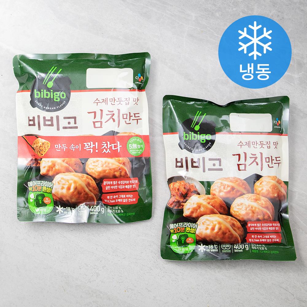 비비고 수제김치만두 (냉동), 400g, 2개