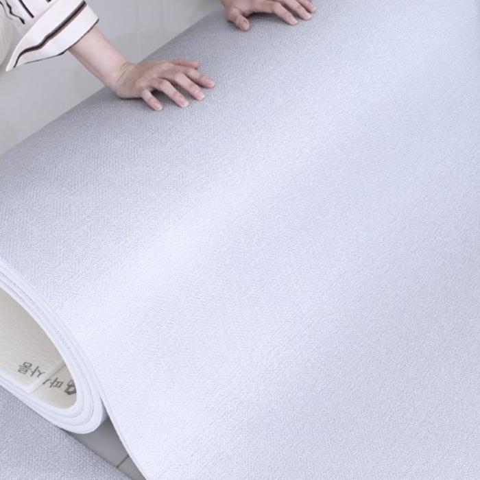 따사룸 PVC 거실 층간소음 방지 롤 매트, 그레이캔버스