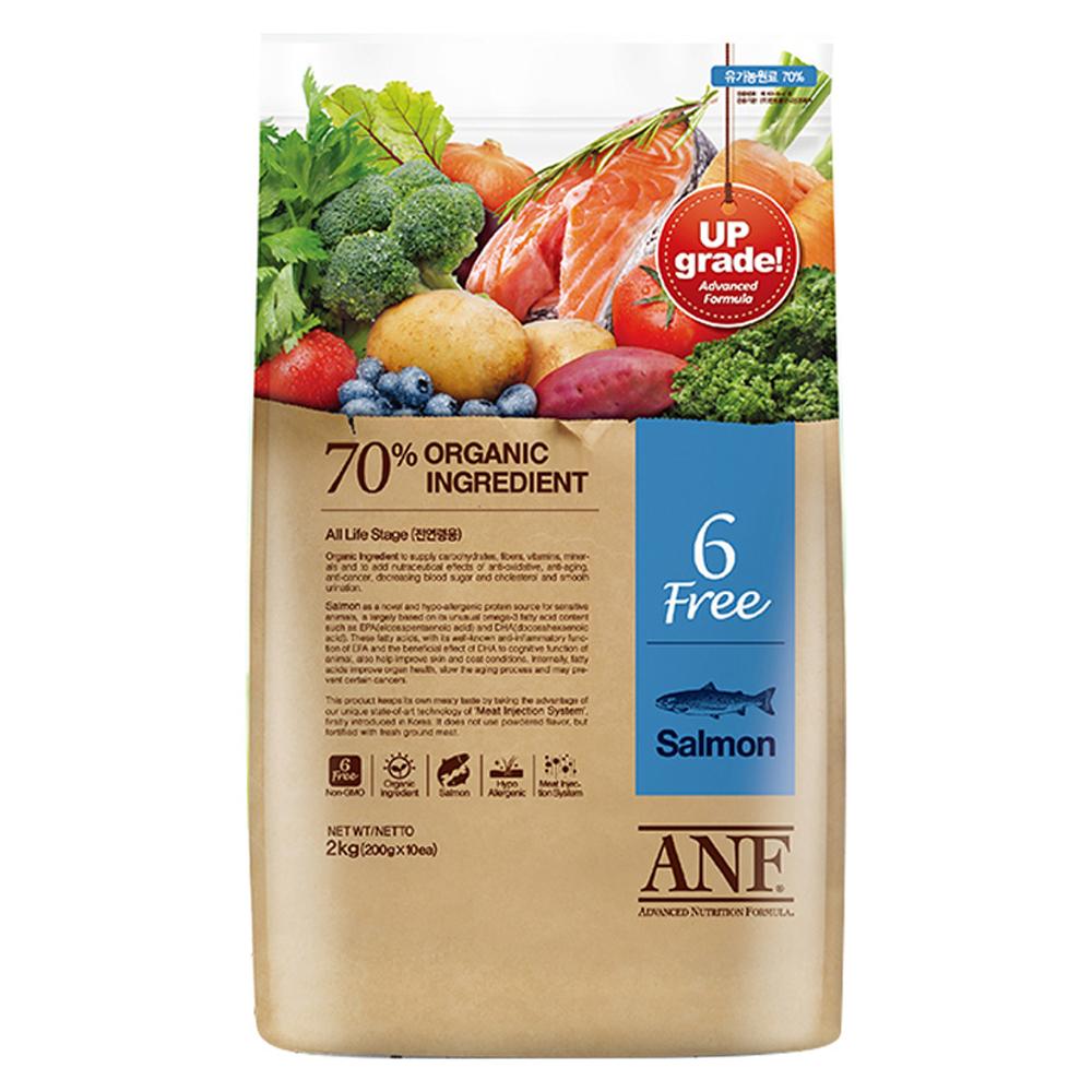 ANF 전연령 유기농 6Free 연어 애견사료, 2kg, 1개