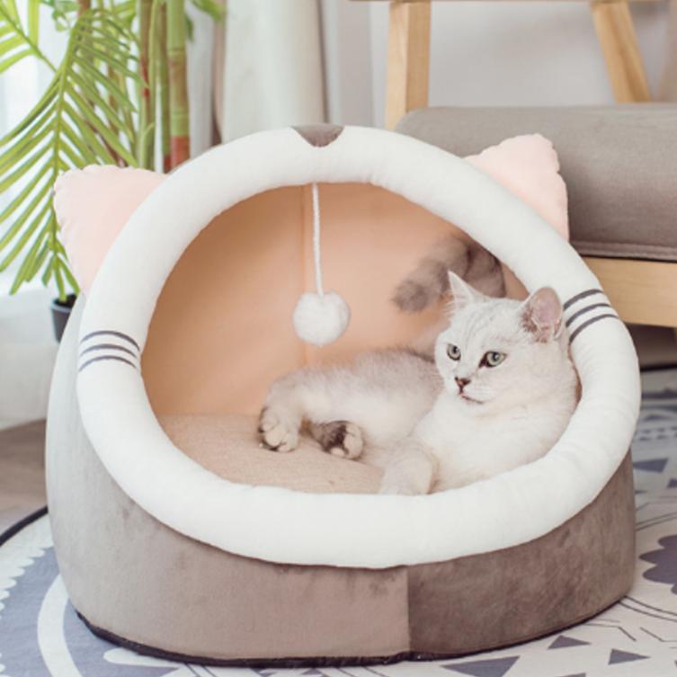 행복한댕냥이 극세사 숨숨집 고양이 하우스