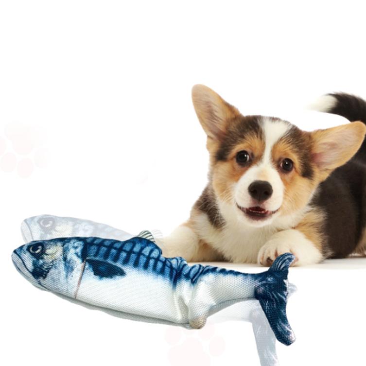 펫케어 반려동물 춤추는 생선 장난감, 고등어, 1개
