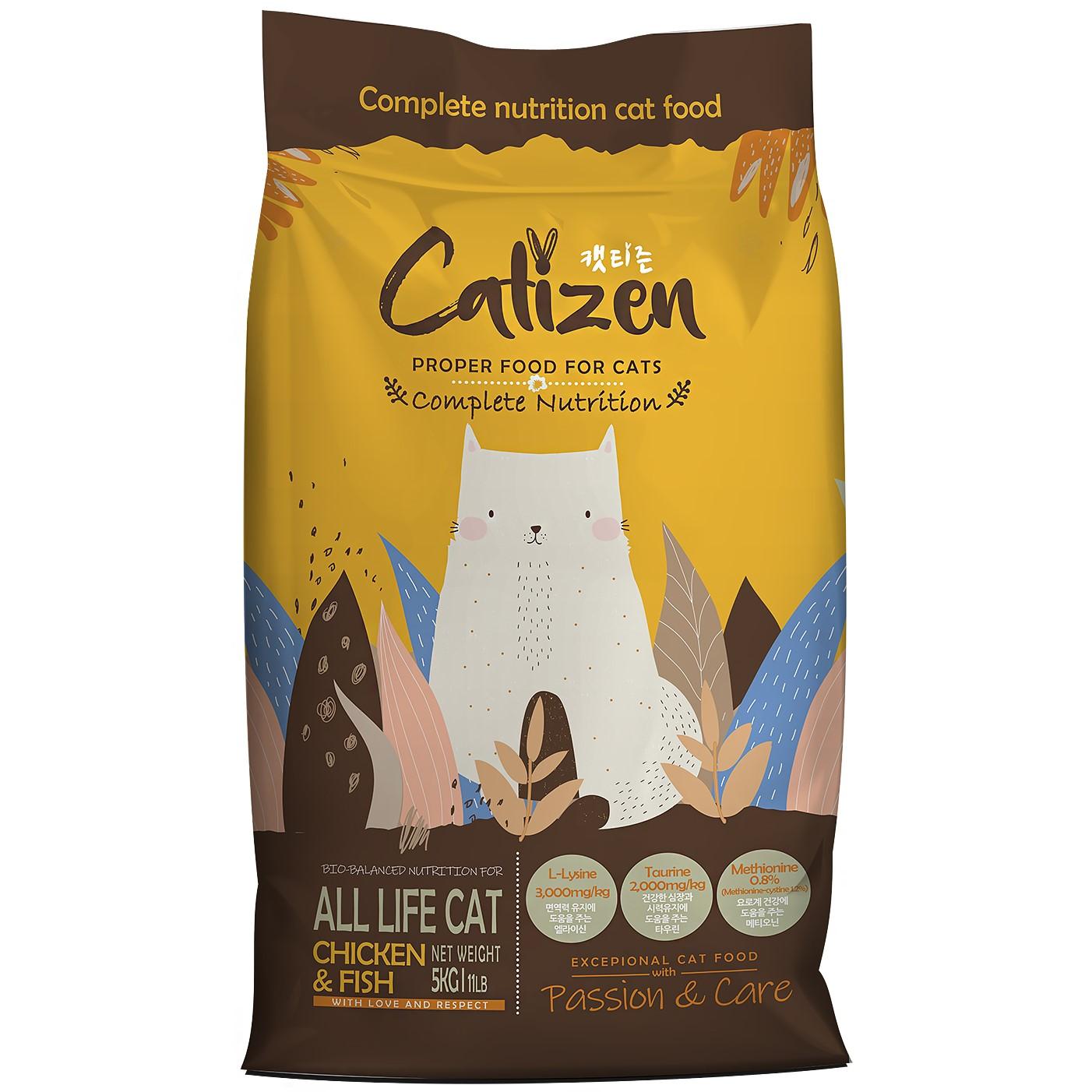 캣티즌 전연령 고양이사료, 5kg, 1개