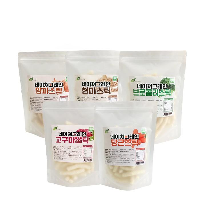네이쳐그레인 유기농 스틱과자 5종세트, 단품, 1세트