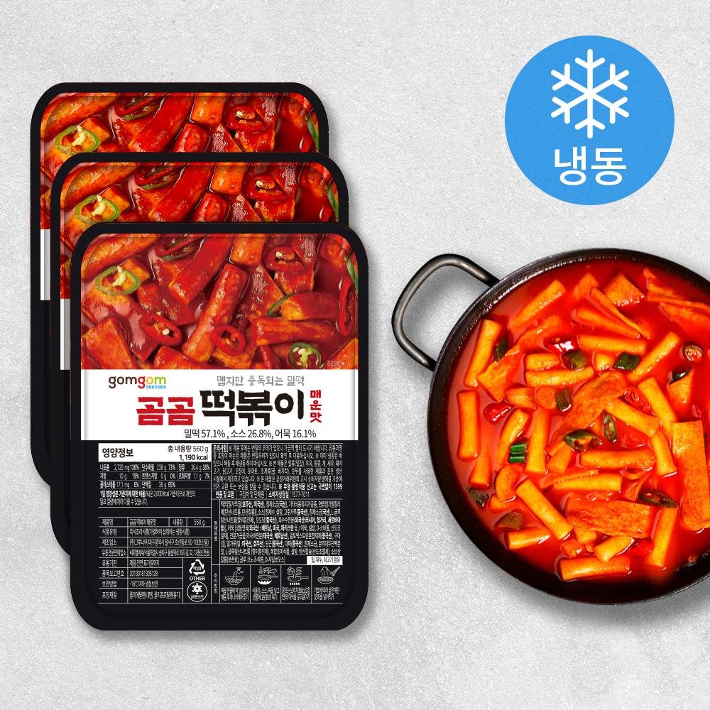 곰곰 떡볶이 매운맛 (냉동), 560g, 3개