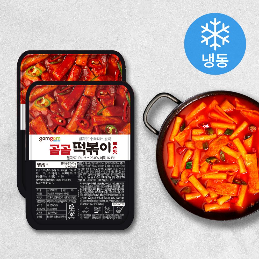 곰곰 떡볶이 매운맛 (냉동), 560g, 2개