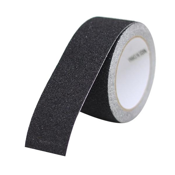 계단 욕실 발판 바닥 논슬립 미끄럼방지 테이프 블랙 5cm x 5m, 1개