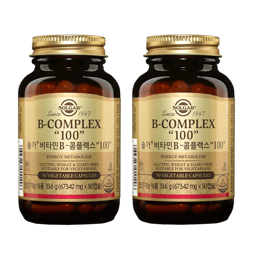 솔가 비타민B 콤플렉스 100, 50캡슐, 2개
