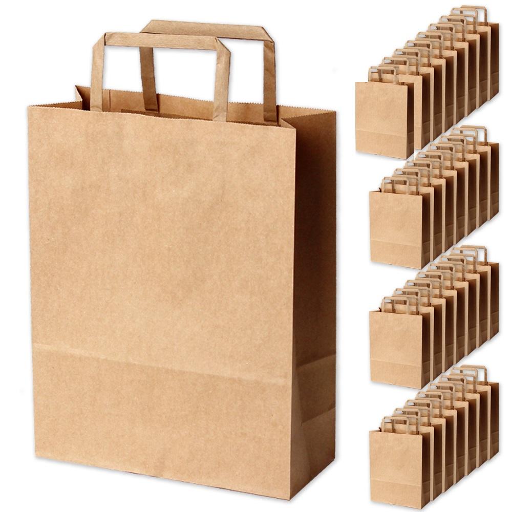 포포팬시 크라프트 쇼핑백 30p + 데코스티커 30p, 브라운
