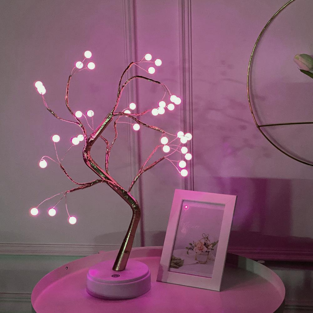 이플린 별빛 트리 무드등, 핑크색 + 진주