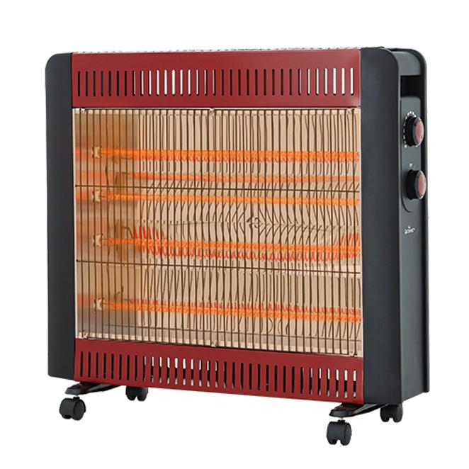 퀸센스 4단 카본 전기 히터, QSH-8000CT, 혼합 색상